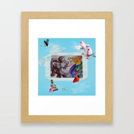 My private heaven Framed Art Print