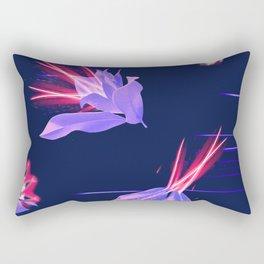 Magnolia Night Fantasy Seamless Print Rectangular Pillow
