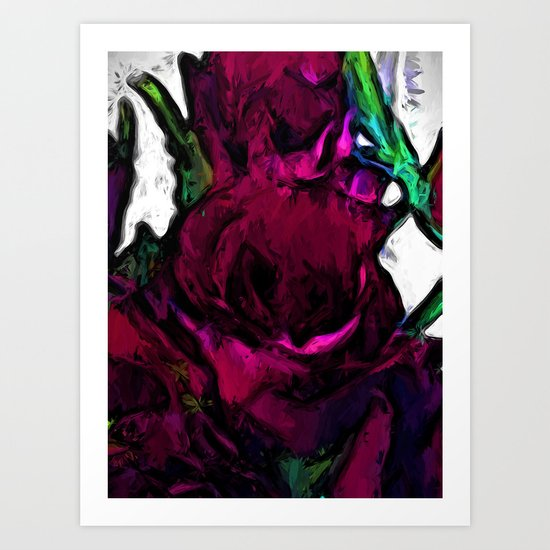 Dark Red Roses with some Pink Art Print
