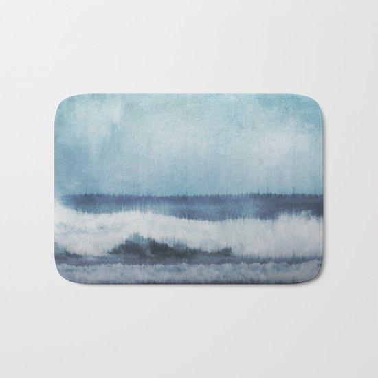 Wave Glitch 1 Bath Mat