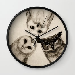 The Owl's 3 Wall Clock