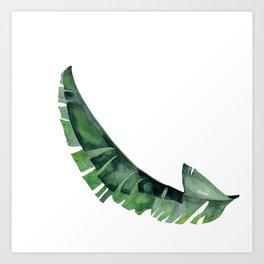 Tropical Leaf Green Art Print