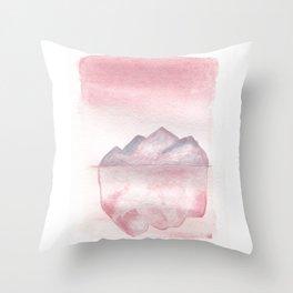 Pink Iceberg Throw Pillow