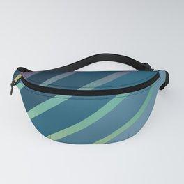 Blue Stripes Gradient Fanny Pack
