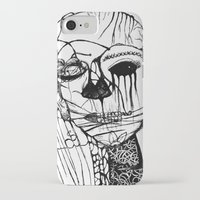 psycho iPhone & iPod Cases featuring ~psycho by alexisdarkness