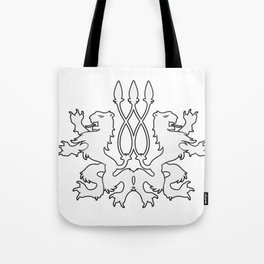 Rampant Lions Series: Version #4 Tote Bag