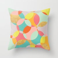 fancy Throw Pillows featuring Fancy by K&C Design