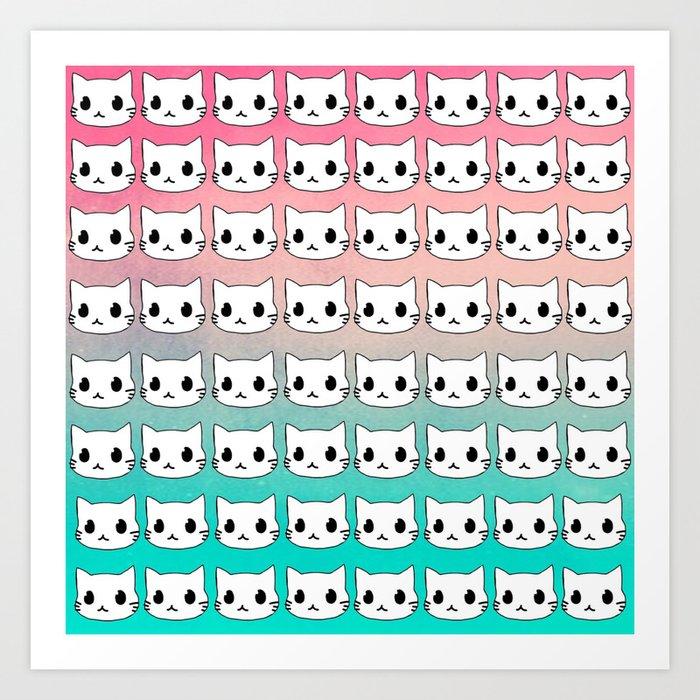 Love cat-464 Art Print