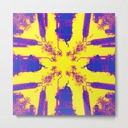 Oil is Over Series; Yellow Lavender Industrial Haze Metal Print