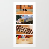 Coffee and donuts time Art Print