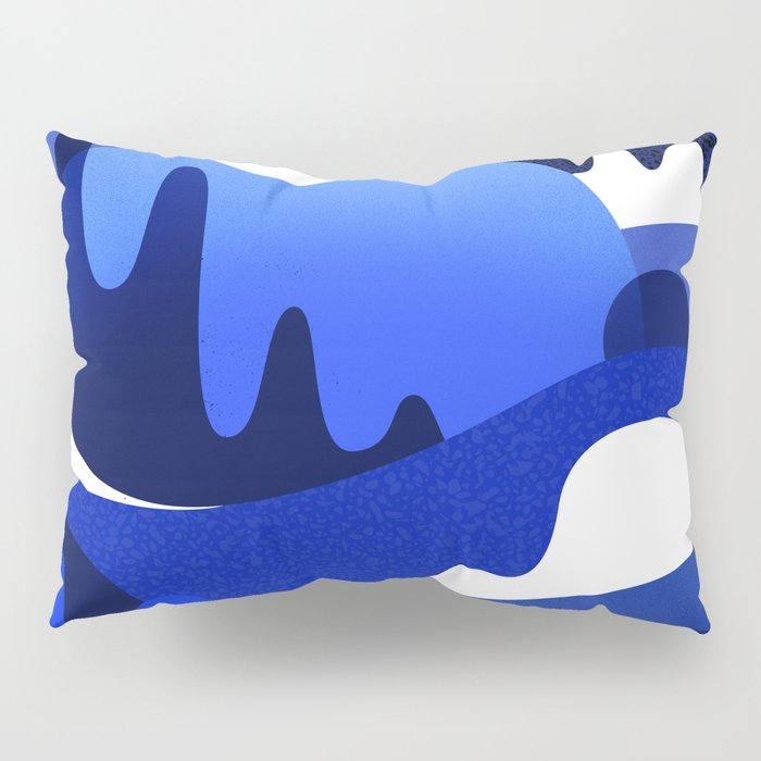 Terrazzo landscape blue night Pillow Sham