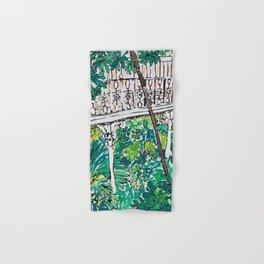 Kew Gardens Jungle Botanical Painting Greenhouse Hand & Bath Towel