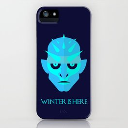 The Ice King - Winter is here Vector Poster iPhone Case
