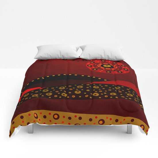Red spring Comforters