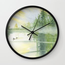 Foggy Morning Wall Clock