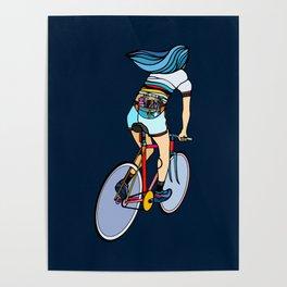 Fixie Girl Poster