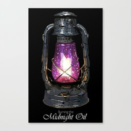Buring the Midnight Oil Canvas Print