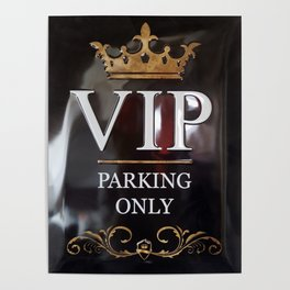 VIP- gold on black Poster