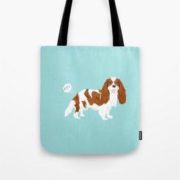 Cavalier King Charles Spaniel blenheim funny farting dog breed gifts Tote Bag
