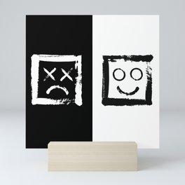 Happiness versus depression. #print Mini Art Print