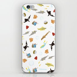 The Life Aquatic with Steve Zissou: Repeat Pattern iPhone Skin