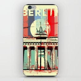 Berlin art Brandenburg Gate iPhone Skin