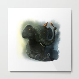 Painting Elephant Metal Print