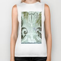 tiffany Biker Tanks featuring tiffany lake by Ariadne