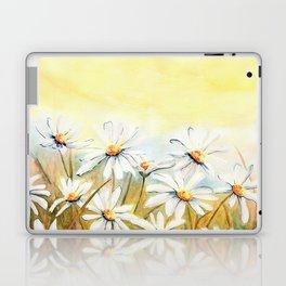 Daisies Watercolor Laptop & iPad Skin