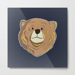 Happy Bear Metal Print