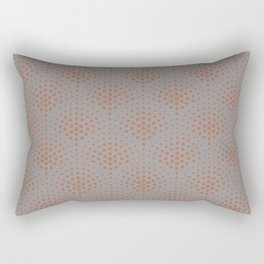 Cavern Clay SW 7701 Polka Dot Scallop Fan Pattern on Slate Violet Gray SW9155 Rectangular Pillow