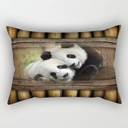 Panda Love Rectangular Pillow