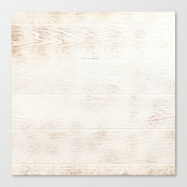White Washed Wood Canvas Print