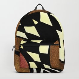 Pink and Brown Backpack