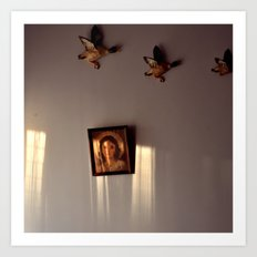 Sunlight on Wall Art Print