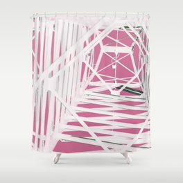 Pink Pylons Shower Curtain