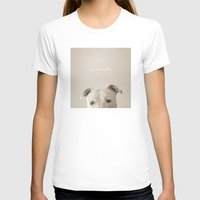 pit bull T-shirts featuring Pit bull love  by Laura Ruth