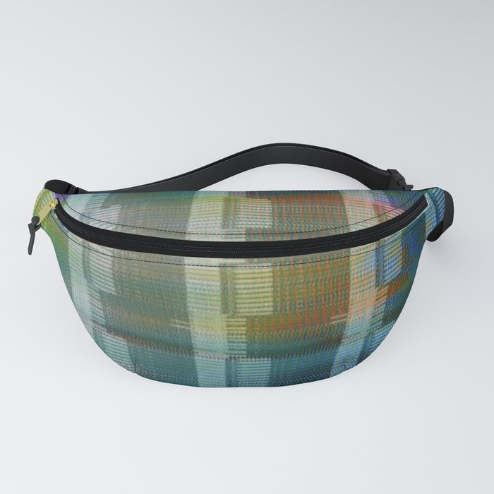 Analogue Glitch Rainbow Blocks Fanny Pack