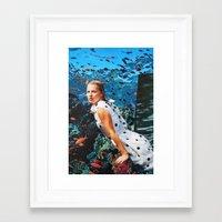 kate moss Framed Art Prints featuring Kate Moss by John Turck