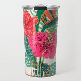 Tropical Hibiscus Bouquet Travel Mug