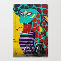 amsterdam Canvas Prints featuring Amsterdam by Laíz Jacon