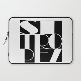 St. Tropez in white and black Laptop Sleeve