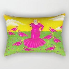 1997 Neon Rainbow Trash Queen Rectangular Pillow