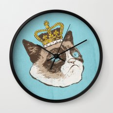 Grumpy King Wall Clock