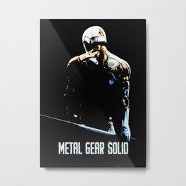 metal gear solid art Metal Print