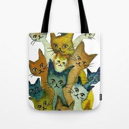Kalamazoo Whimsical Cats Tote Bag