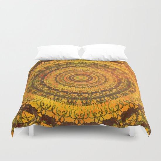 Sun Mandala 5 Duvet Cover