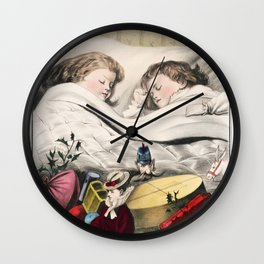 Christmas Morning-Before Daylight (1871) by The Kellogg  Bulkeley Co Wall Clock
