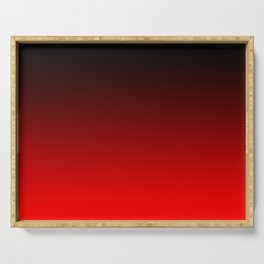 Black Red Neon Nights Ombre Serving Tray