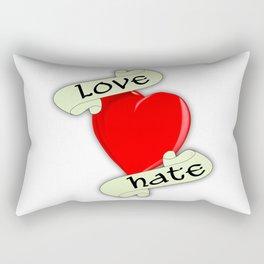 Love Hate Heart Rectangular Pillow